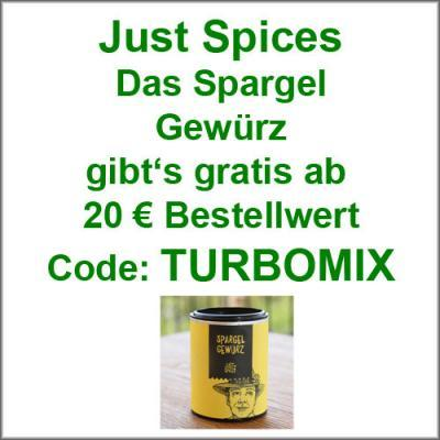 Just Spices Spargel Gewürz gratis