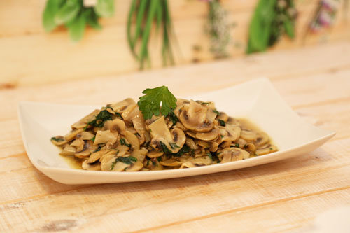 Thermomix Champignons in Knoblauch