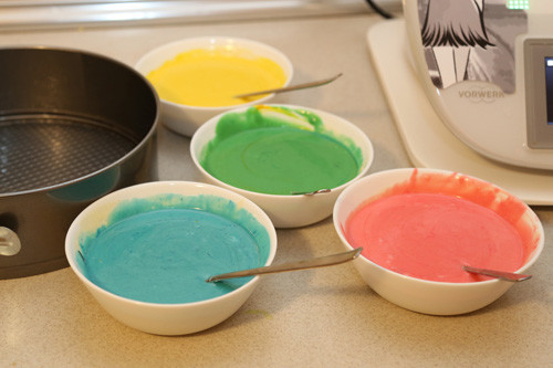 Thermomix Regenbogenkuchen 4 Farben
