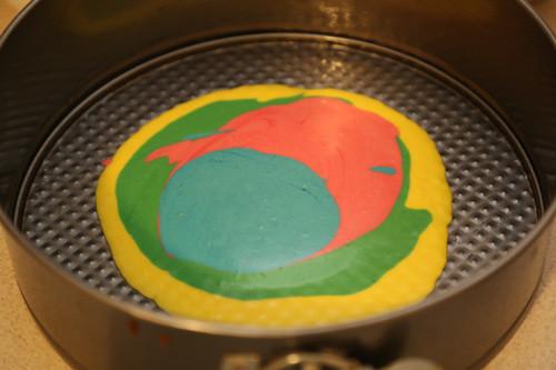 Thermomix Regenbogenkuchen Farben in Springform