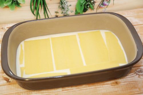 Pampered Chef Lasagne erste Schicht