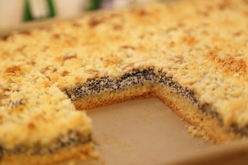 Mohnstreuselkuchen Pampered Chef angeschnitten