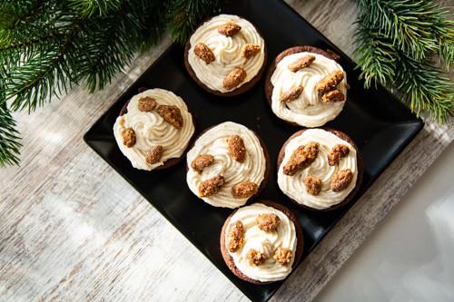 Pampered Chef weihnachtliche Schokomuffins von oben