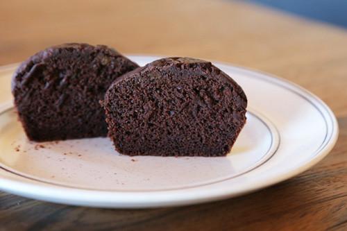 Pampered Chef vegane Schoko-Muffins aufgeschnitten