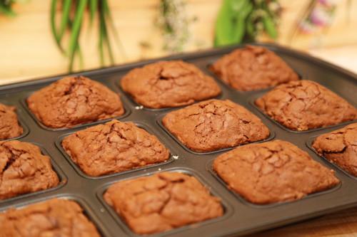 fertige Brownies in der Brownieform von Pampered Chef