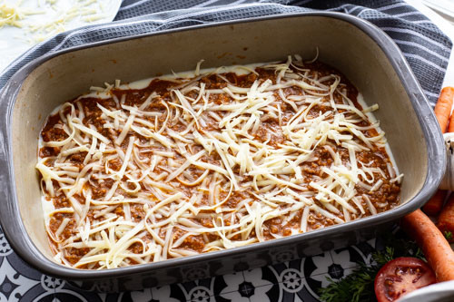 Pampered Chef Lasagne Schicht