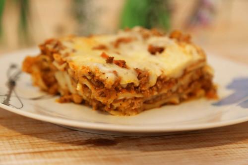 Pampered Chef Lasagne auf Teller