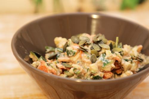 Thermomix Zucchini-Möhren-Rohkost mit Feta