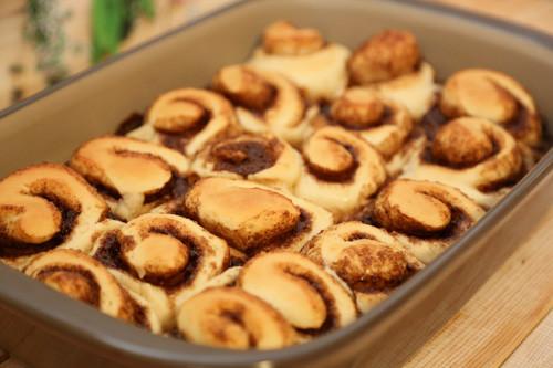 Cinnamon Rolls nach Backen in Ofenhexe