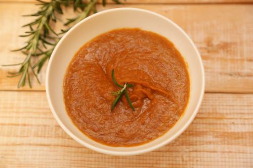Thermomix veganer Linsen-Tomaten-Aufstrich von oben