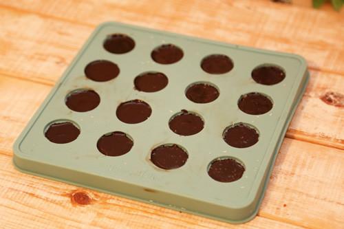 Pampered Chef Schokoladenform mit Schokolade