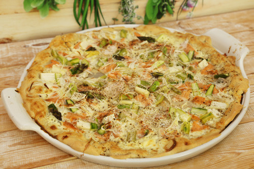 Pampered Chef White Lady Lachs-Flammkuchen