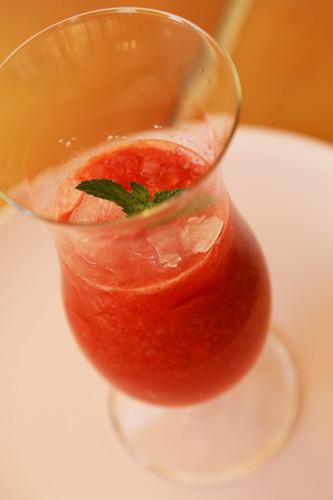 Thermomix Erdbeer-Slush mit Minze