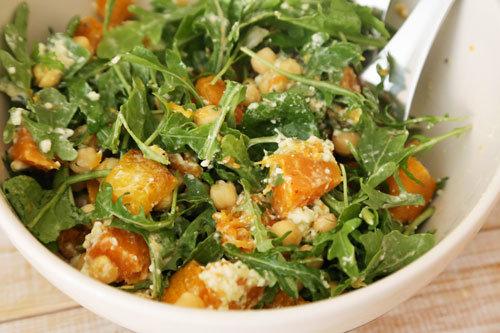 Kurbis Kichererbsen Salat Super Sattigend Nicht Nur Als Beilage