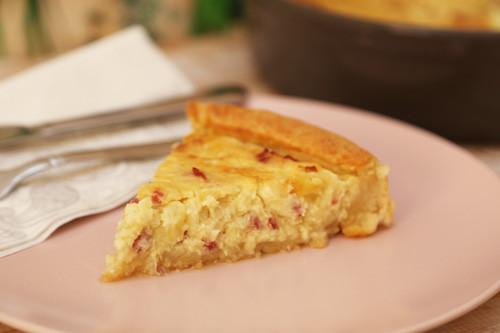Pampered Chef Zwiebelkuchen Stück