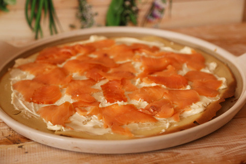 Pampered Chef Ofenpfannkuchen mit Lachs
