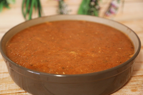 Pampered Chef Tomatensauce in runder Stoneware