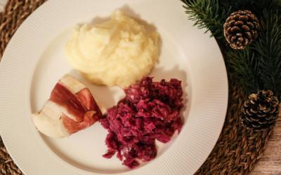 Apfelrotkohl, Kartoffelpüree und Hähnchenbrust mit dem Thermomix