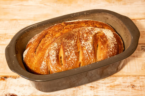 Pampered Chef Mischbrot Falkensee fertig gebacken in Lily