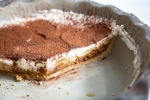 Pampered Chef Banoffee Pie angeschnitten