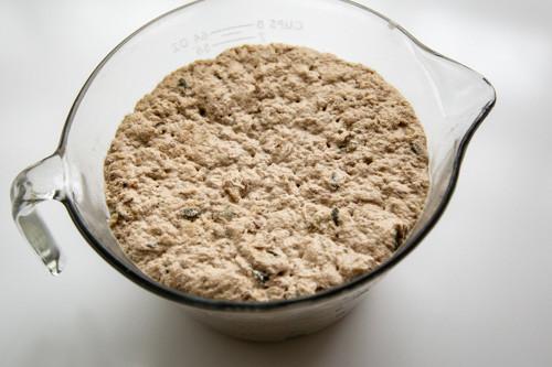 Pampered Chef Zaubermeister Emmer-Dinkel-Buttermilchkruste Teig nach dem Gehen