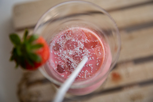 Thermomix Erdbeer-Kokos-Shake