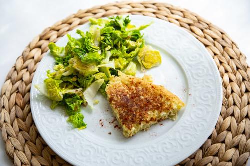 Thermomix Tortilla mit Salatbouquet