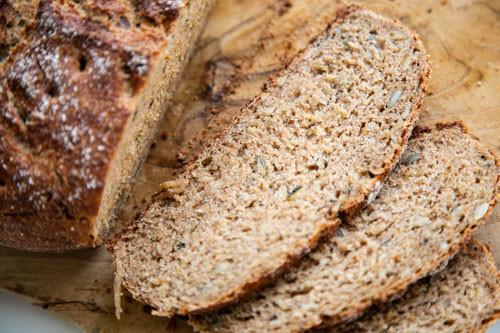 Pampered Chef Dinkel-Ruchmehl-Brot Brotscheiben
