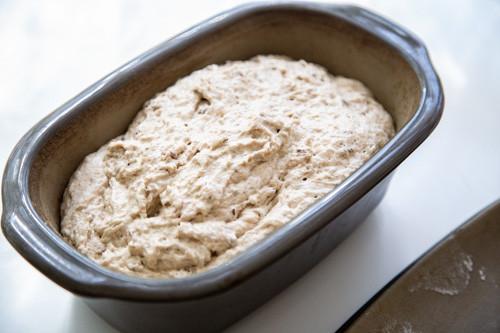 Pampered Chef Vollkorn-Einkorn-Dinkel-Brot Teig im kleinen Zaubermeister