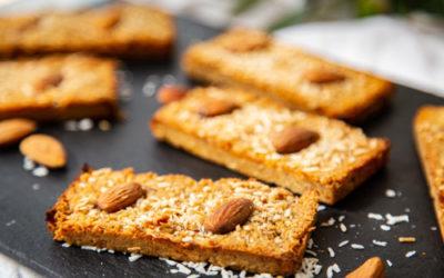 Mandel-Kokos-Müsliriegel im Snack-Maker