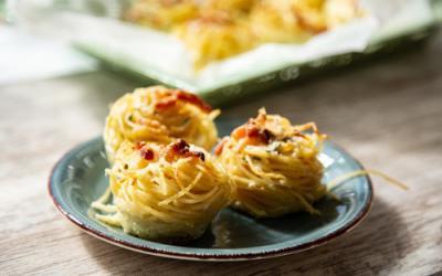 Nudelnester Carbonara-Style im 12er Snack