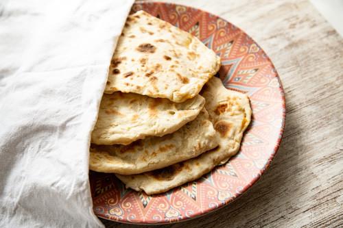 Thermomix Naan-Brot mit Käse von oben