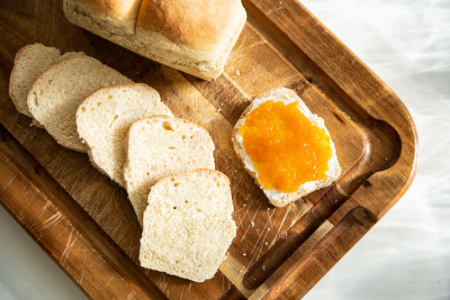 Pampered Chef Toastbrot Mini-Kastenform aufgeschnittene Scheiben