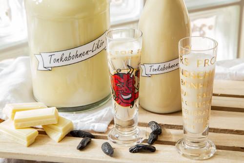 Thermomix Tonkabohnen-Likör in Gläsern