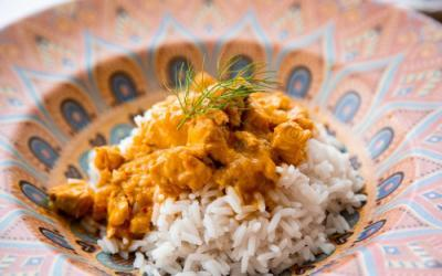 Pikantes Lachs-Curry im Thermomix
