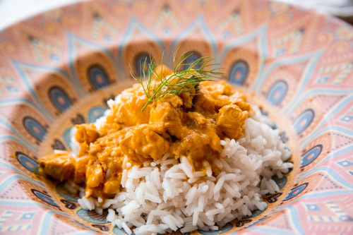 Thermomix pikantes Lachs-Curry