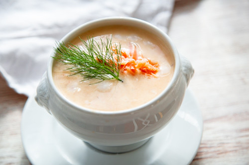 Thermomix Lachscremesuppe