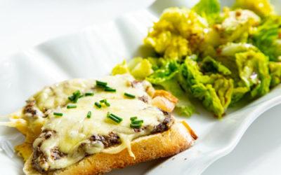 Pilz-Trüffel-Baguettes auf rockcrok Grillstein