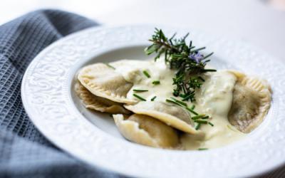 Pilz-Trüffel-Ravioli mit Sahne-Sauce mit Thermomix