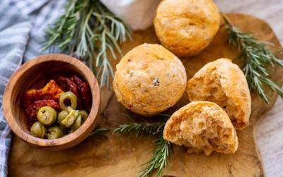 Mediterrane Muffin-Brötchen im 12er Snack