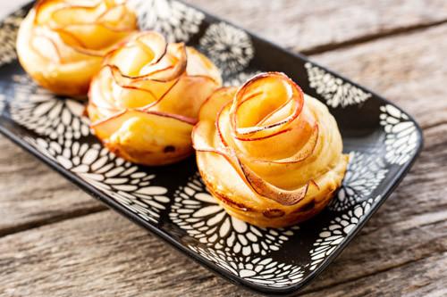 Pampered Chef Apfel-Blätterteigrosen 12er Snack