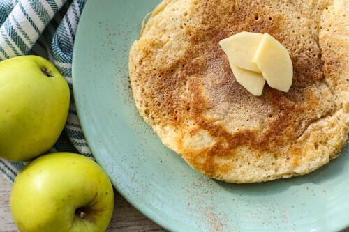 Thermomix Apfel-Pfannkuchen von oben