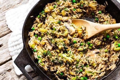 Pampered Chef Asia-Reispfanne in gusseiserner Pfanne