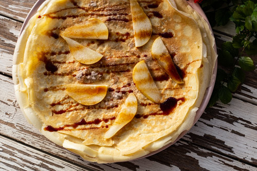 Thermomix Crepes angerichtet