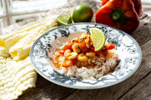 Thermomix Garnelen-Curry mit Paprika und Limette