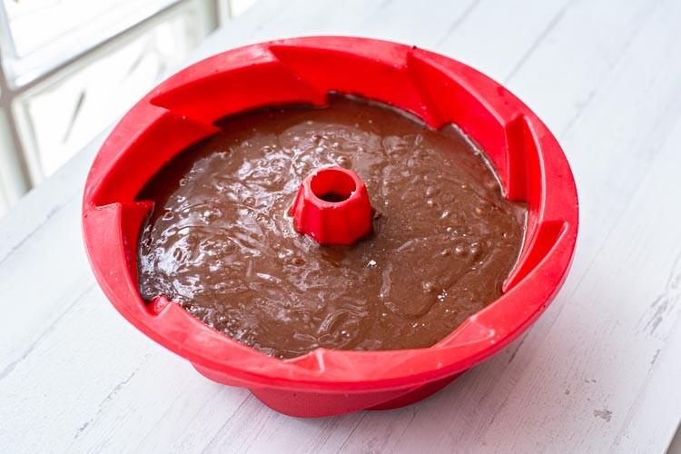 Thermomix Schokoladen-Orangen-Kuchen-Teig in Swirlform