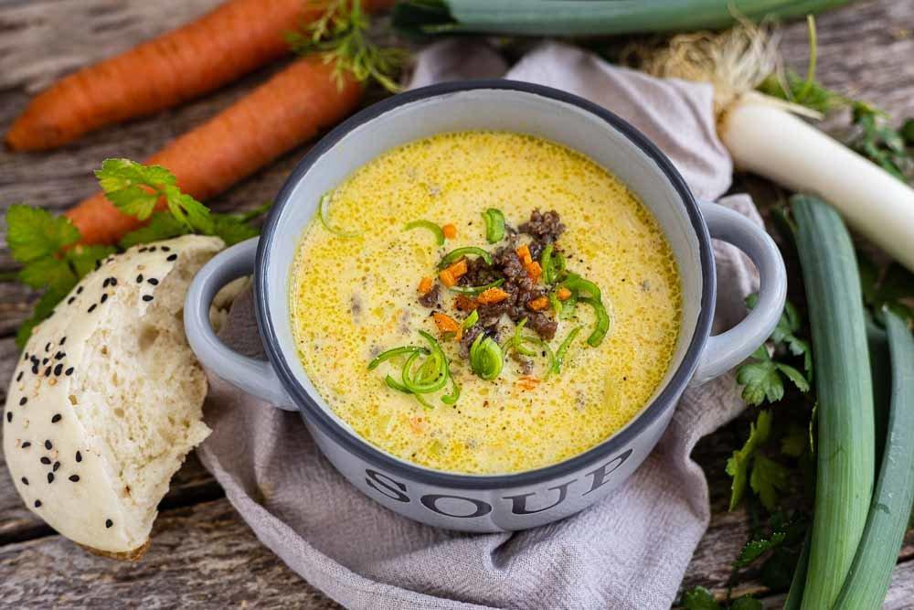 Thermomix Hack-Lauch-Käse-Suppe von oben