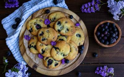 Blueberry Cheesecake Cookies mit dem Thermomix